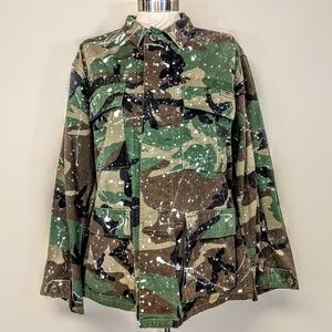 Custom Paint Splatter Camo Jacket